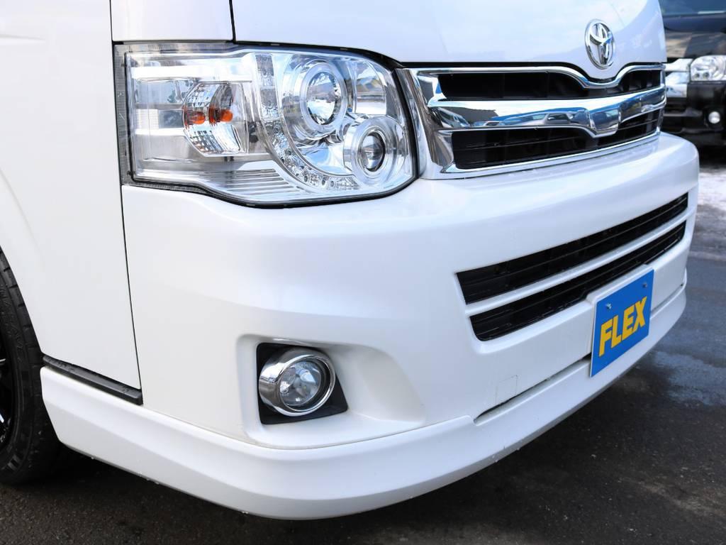 レガンスフロントハーフスポイラー装着! | トヨタ ハイエース 2.7 グランドキャビン 4WD