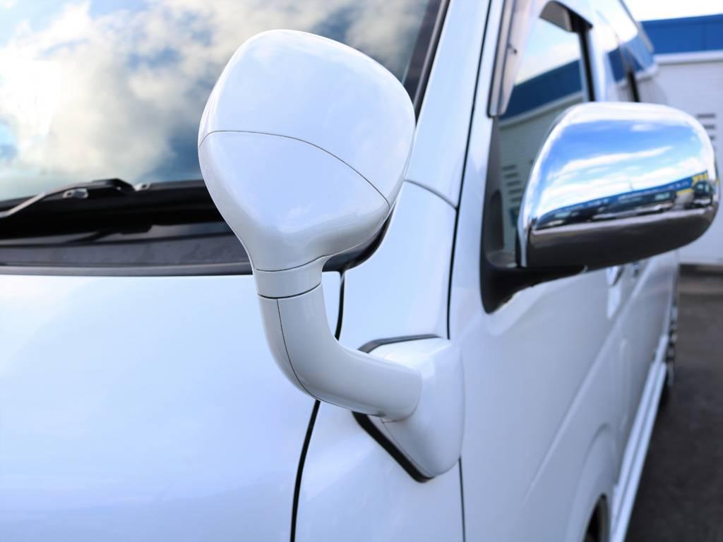 ガッツミラー同色施工! | トヨタ ハイエース 2.7 グランドキャビン 4WD