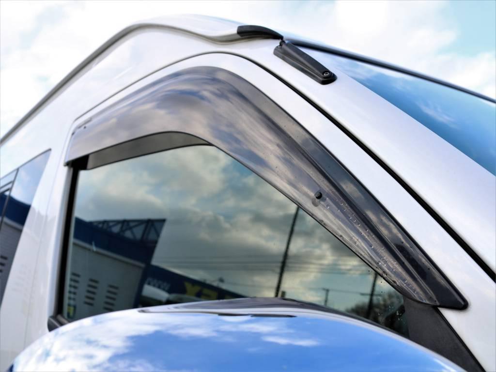純正ドアバイザー!あると嬉し装備です! | トヨタ ハイエース 2.7 グランドキャビン 4WD