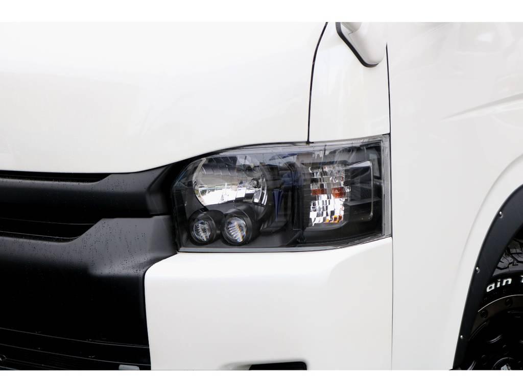LEDヘッドライトインナーブラック施工! | トヨタ ハイエースバン 2.7 スーパーGL ダークプライム ワイド ミドルルーフ ロングボディ 下取り直販!調布店発!ワンオーナー車!