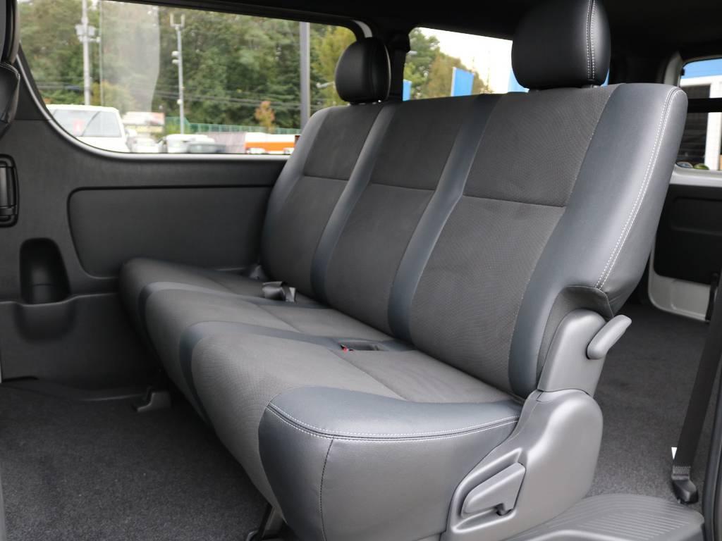 2列目も広々としています! | トヨタ ハイエースバン 2.8 スーパーGL ダークプライムⅡ ロングボディ ディーゼルターボ 4WD ベッドキッド&ワイルドカスタム