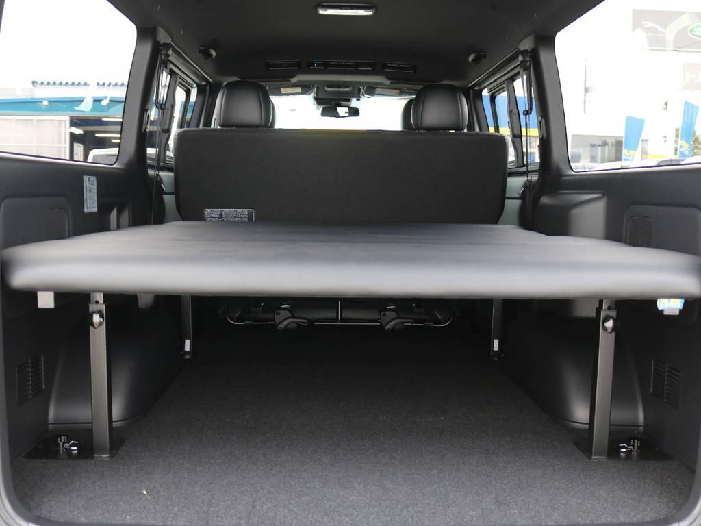 ベットキットは5段階高さ調整可能です! | トヨタ ハイエースバン 2.8 スーパーGL ダークプライムⅡ ロングボディ ディーゼルターボ 4WD ベッドキッド&ワイルドカスタム