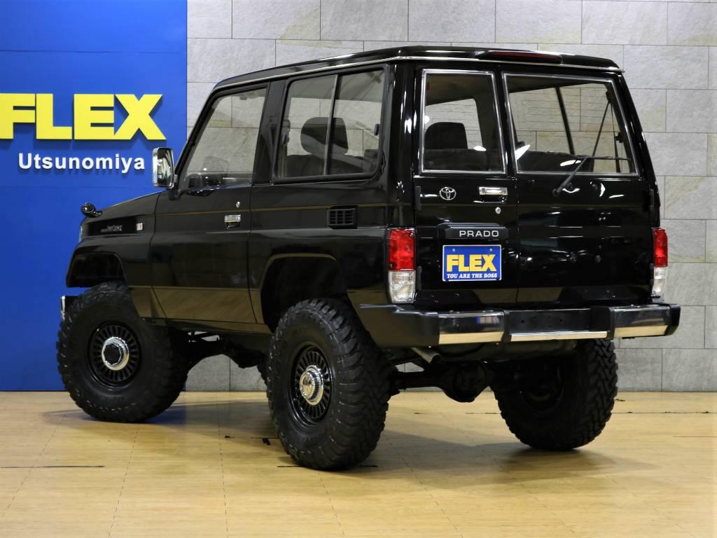 当店は工場併設店舗ですので、ご納車後のアフターメンテナンスや車検、カスタムなどもお任せ下さい。 | トヨタ ランドクルーザープラド 3.0 SXワイド ディーゼルターボ 4WD 5MTのショートボディー