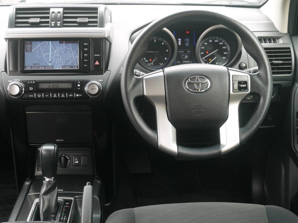 太さも程よく、運転のしやすいステアリング! | トヨタ ランドクルーザープラド 2.8 TX ディーゼルターボ 4WD