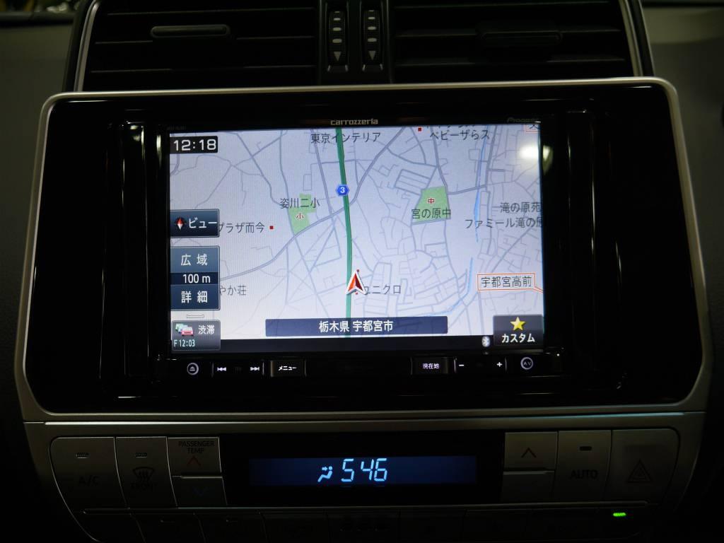 新品TV付きナビ!Bluetooth接続やDVD再生も可能です! | トヨタ ランドクルーザープラド 2.7 TX 4WD 新車未登録 5人乗