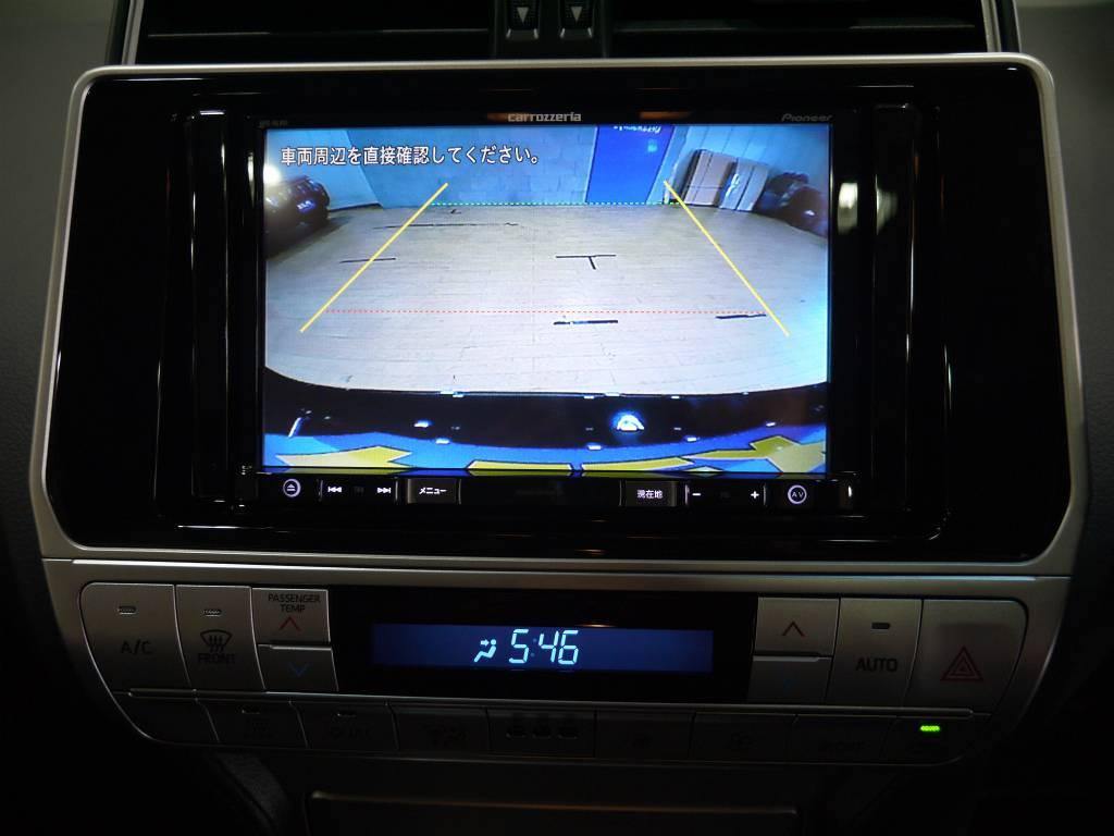 バックカメラも連動しておりますので、車庫入れも安心です! | トヨタ ランドクルーザープラド 2.7 TX 4WD 新車未登録 5人乗