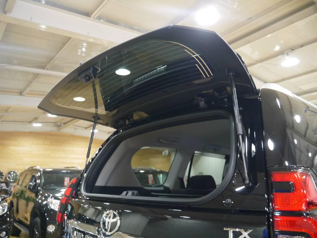 リアガラスの開閉が可能なのもプラドの特徴! | トヨタ ランドクルーザープラド 2.7 TX 4WD 新車未登録 5人乗