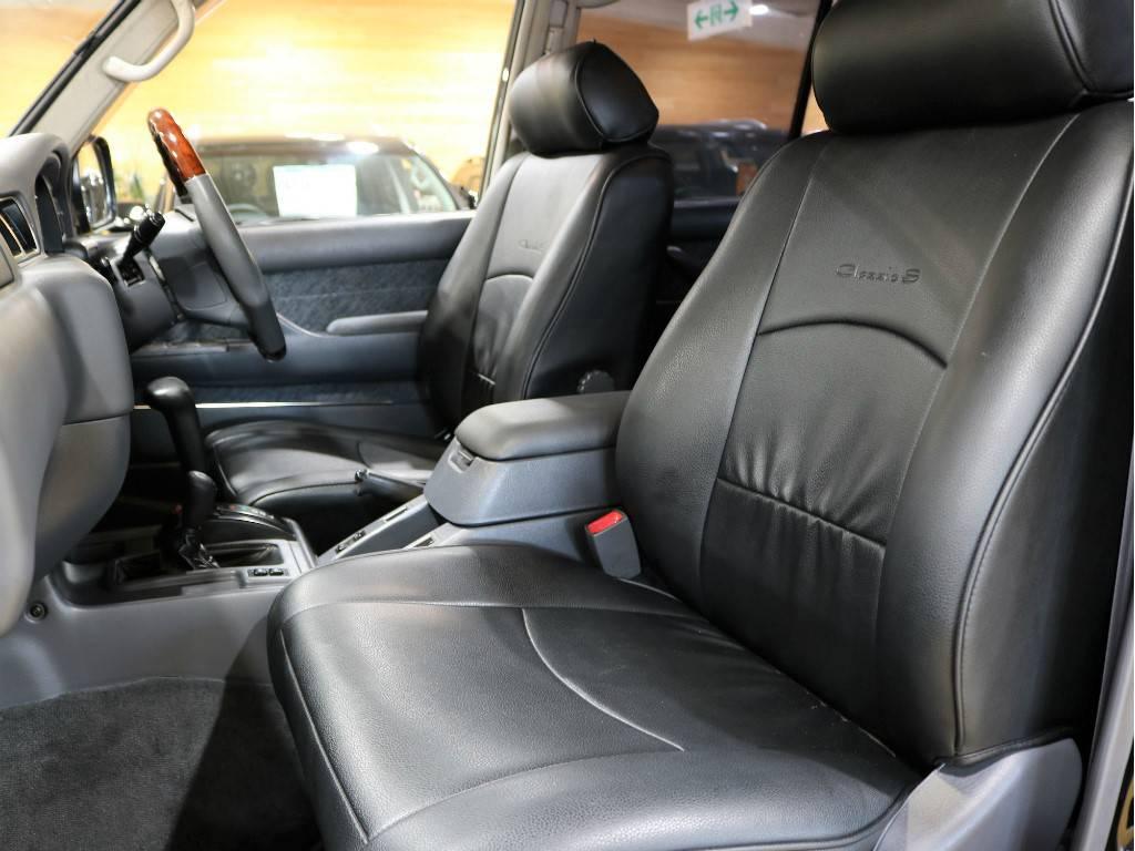ブラックシートカバーを装着済みです! | トヨタ ランドクルーザー80 4.2 VX ディーゼルターボ 4WD 最終モデル 純正ブラック
