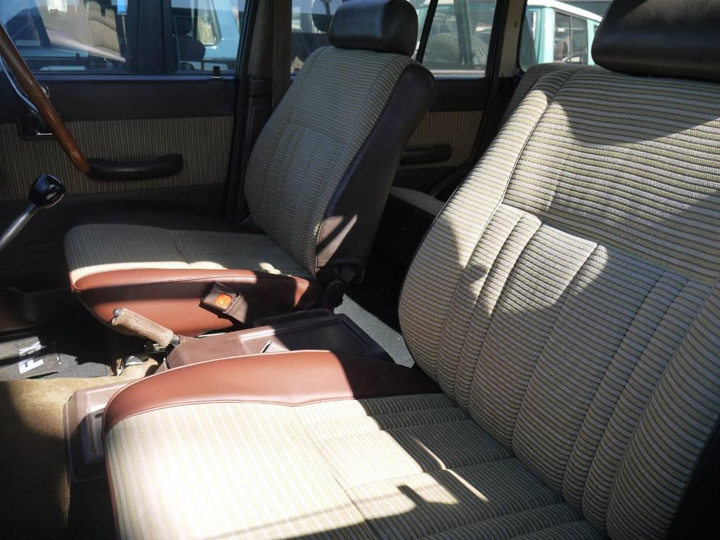 座面のレザー部のみ張り替えを行いました!   トヨタ ランドクルーザー60 3.4 観音扉 ディーゼル 4WD