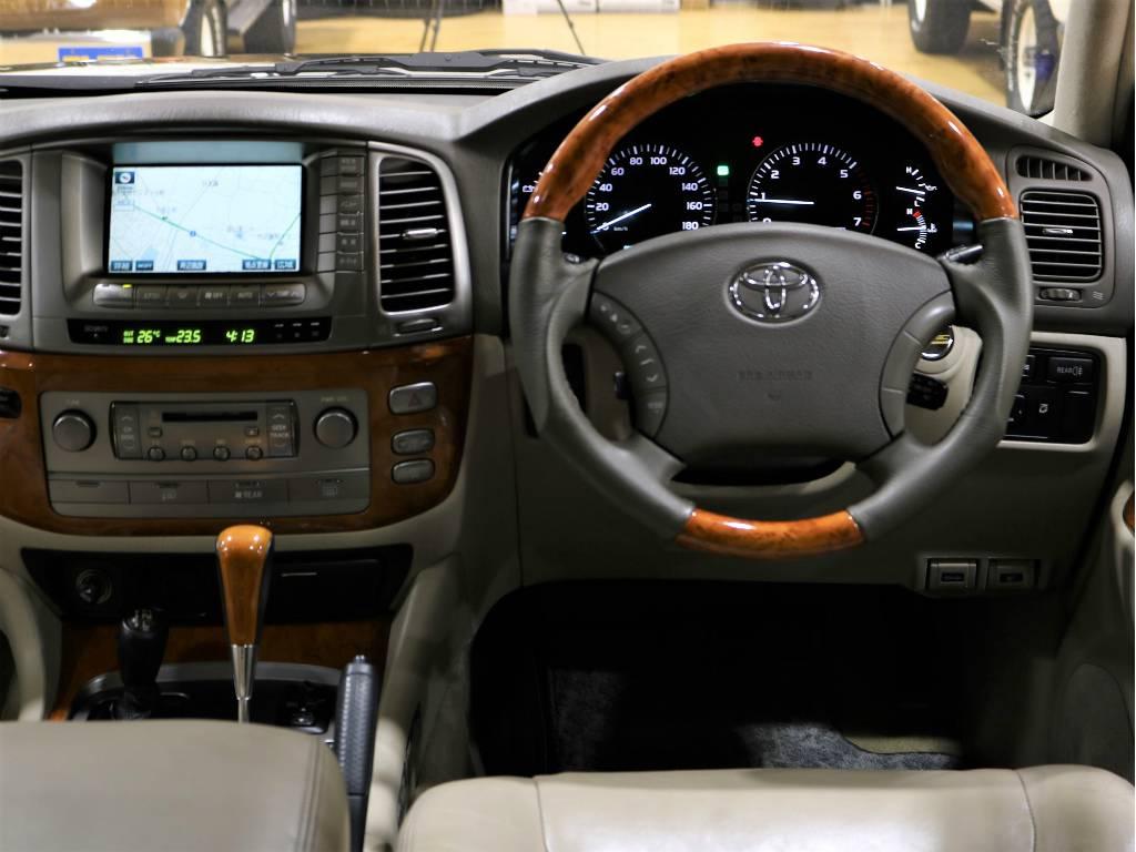 ウッドコンビハンドル&ウッドコンビシフトノブ! | トヨタ ランドクルーザーシグナス 4.7 4WD プッシュスタート セキュリティー
