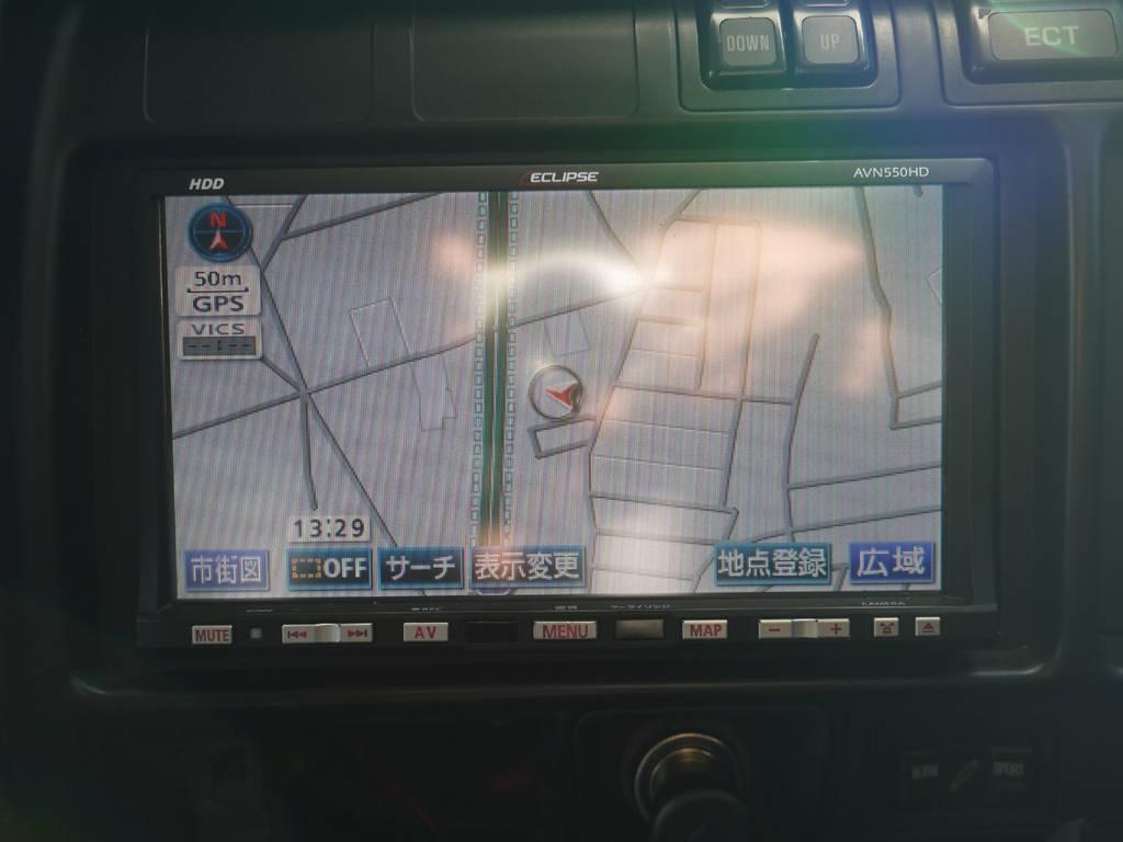 ワンセグ付HDDナビを装備!最新ナビを新たに取り付ける事も可能です!お気軽にスタッフまでご相談下さい! | トヨタ ランドクルーザー80 4.5 VXリミテッド 4WD 中期 3インチアップ