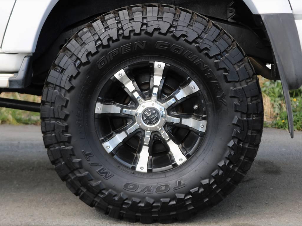 オープンカントリーMTタイヤ&MGビースト16インチAW | トヨタ ランドクルーザー80 4.5 VXリミテッド 4WD 中期 3インチアップ
