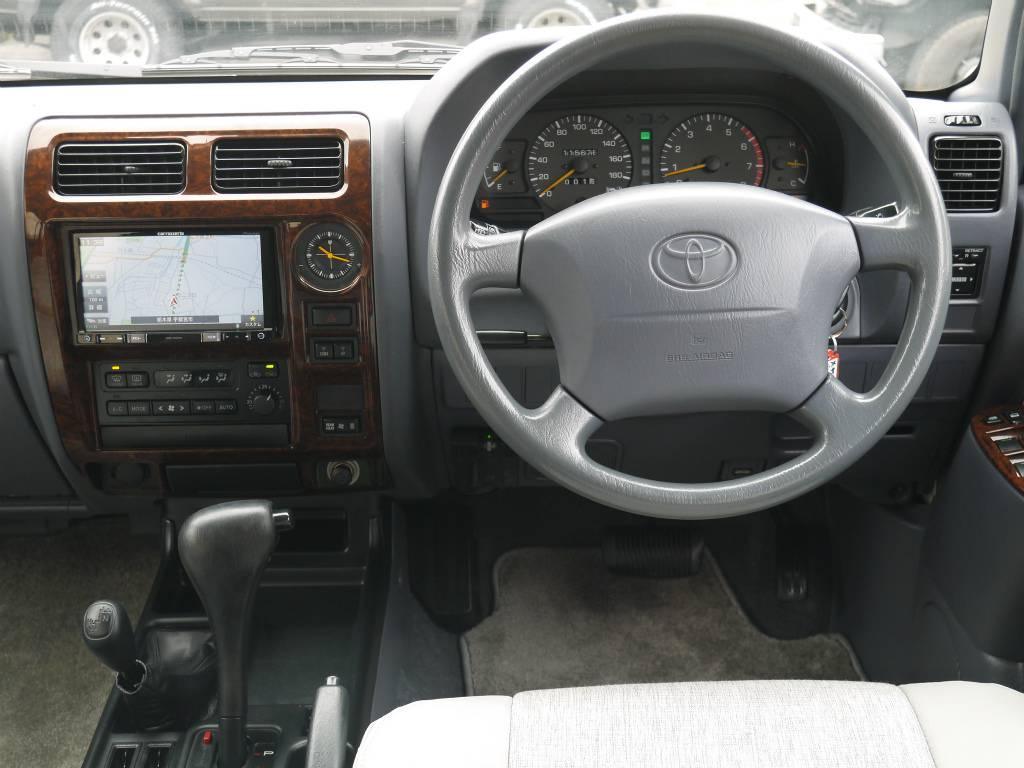 ウッドコンビハンドルへの交換もお任せ下さい! | トヨタ ランドクルーザープラド 2.7 TX リミテッド 4WD クラシックスタイル
