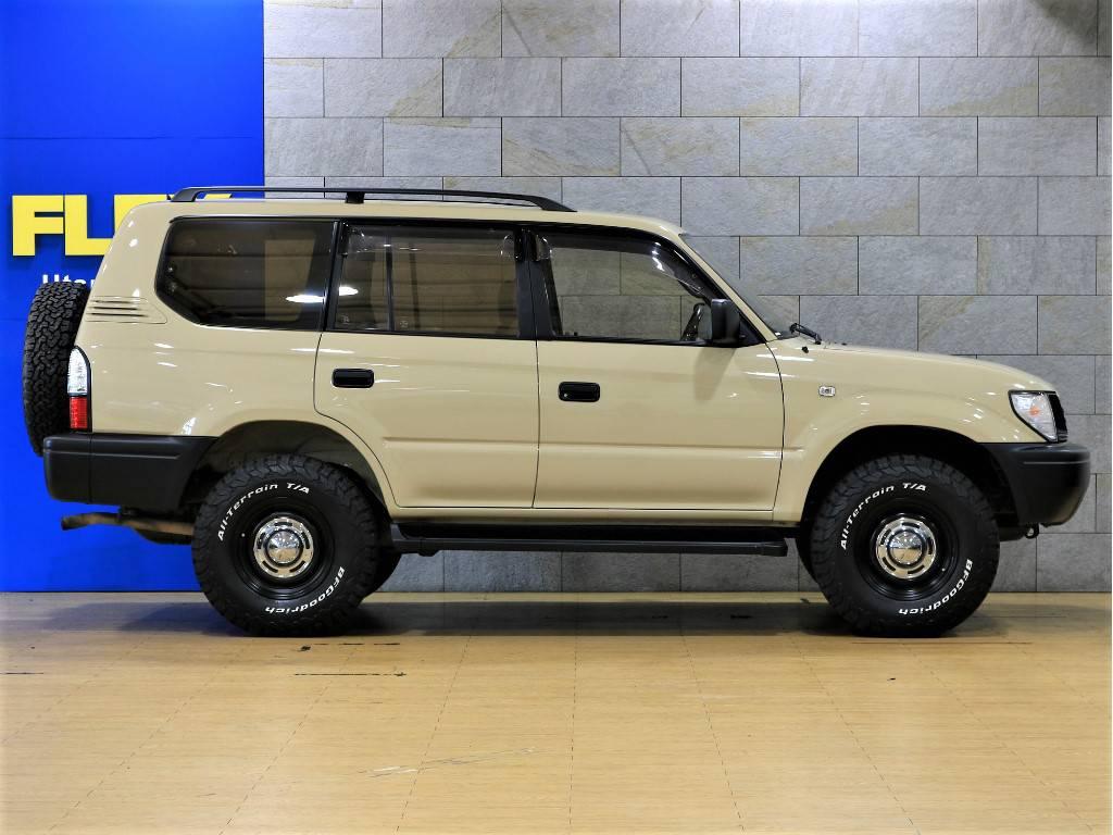 ノーマル車高!追加カスタムもお気軽にご相談下さい。 | トヨタ ランドクルーザープラド 2.7 TX リミテッド 4WD クラシックスタイル