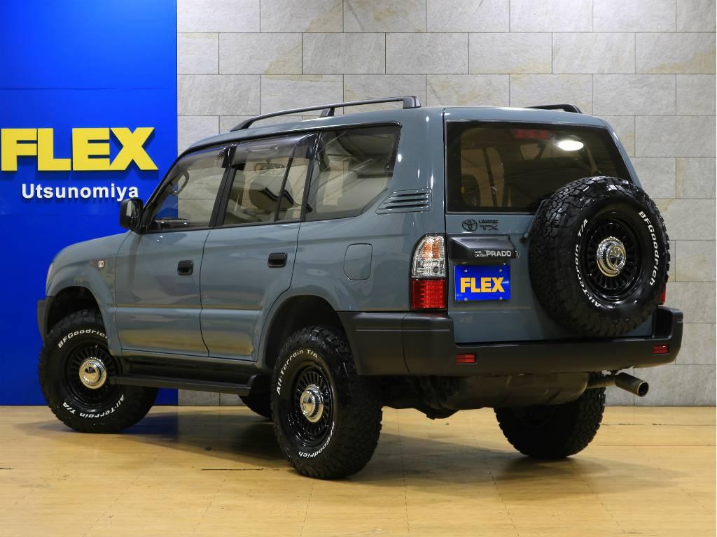当店は工場併設店舗ですので、ご納車後のアフターメンテナンスや車検、カスタムなどもお任せ下さい。 | トヨタ ランドクルーザープラド 2.7 TX リミテッド 4WD