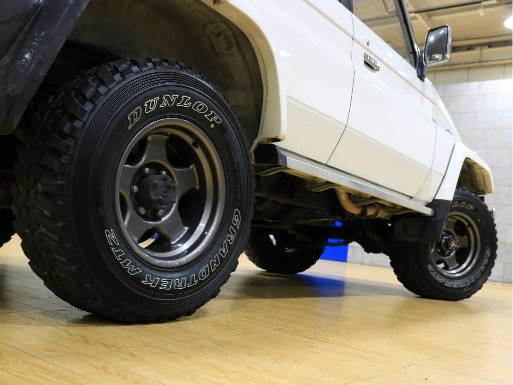 下からのアングルもカッコいいですね♪ | トヨタ ランドクルーザー70 4.2 ZX ディーゼル 4WD