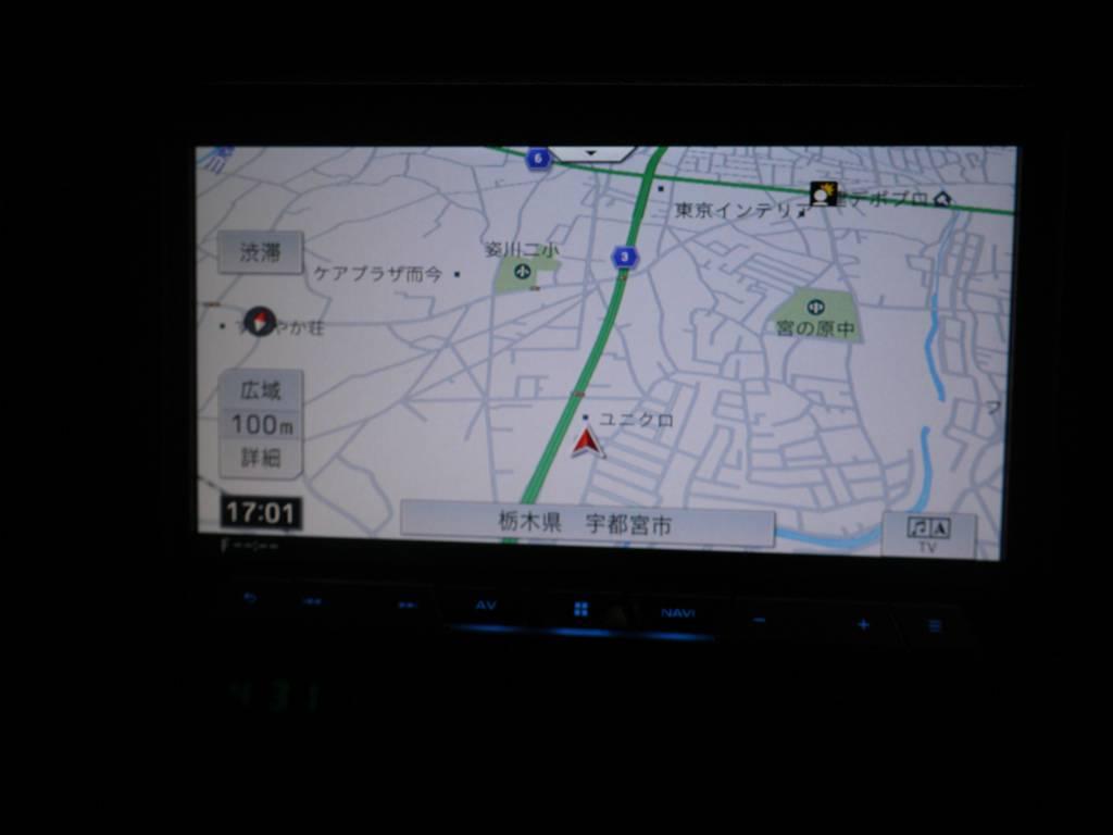カロッツェリアTV付きナビ   トヨタ ランドクルーザー70 4.2 ZX FRPトップ ディーゼル 4WD