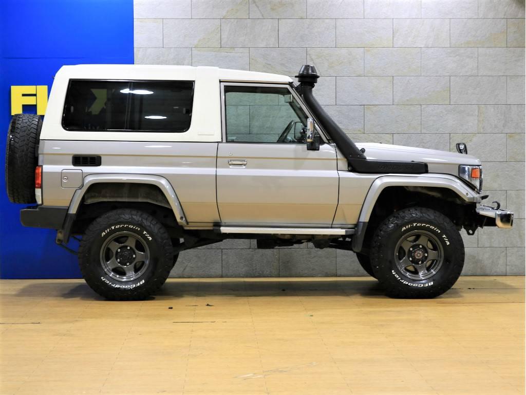 4インチリフトアップ済み!   トヨタ ランドクルーザー70 4.2 ZX FRPトップ ディーゼル 4WD