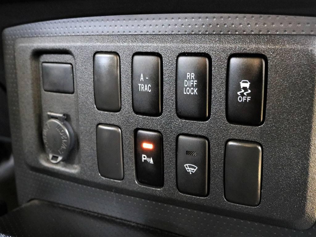 各種スイッチ類 | トヨタ FJクルーザー 4.0 ブラックカラーパッケージ 4WD