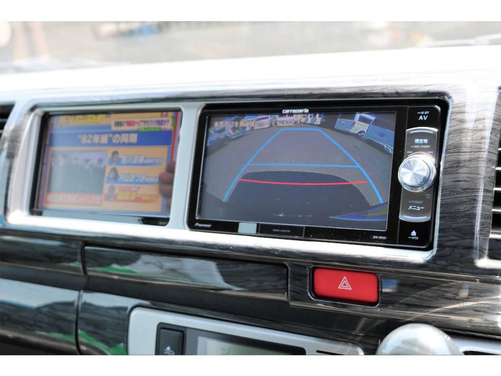 大きいボディでも駐車が安心なバックカメラ付きです! | トヨタ ハイエース 2.7 GL ロング ミドルルーフ 新型【TSSP付】