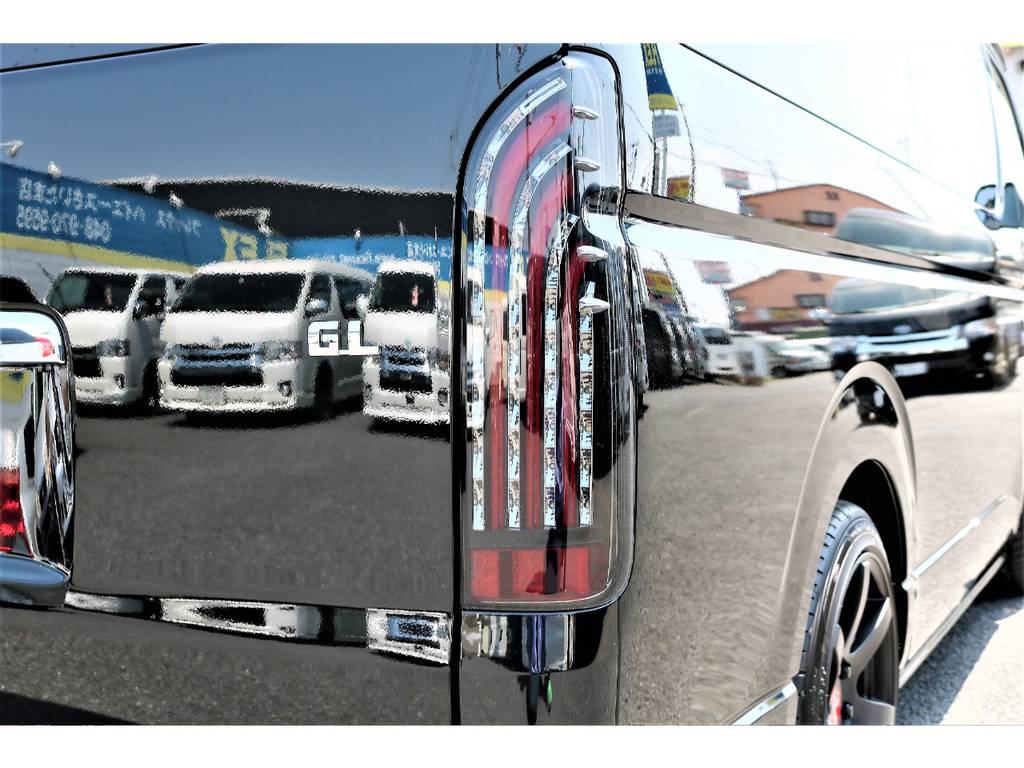 リアビューにはFLEXオリジナルLEDテールランプ! | トヨタ ハイエース 2.7 GL ロング ミドルルーフ 新型【TSSP付】