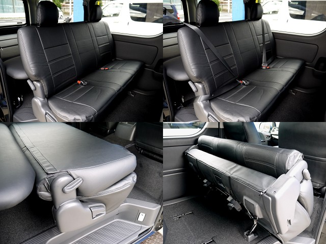 全席シートカバー装着!! | トヨタ ハイエースバン 2.8 スーパーGL ロング ディーゼルターボ ベットキットパッケージ