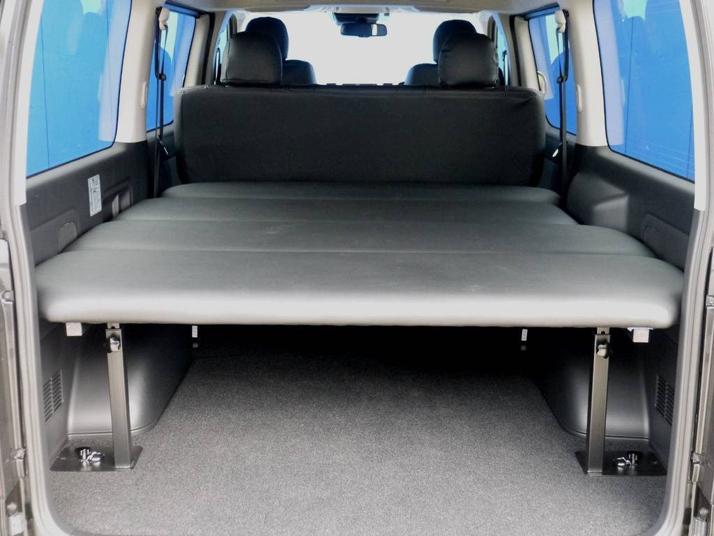 フレックスオリジナル 高さ調整機能付ベットキットを取付しました!! | トヨタ ハイエースバン 2.8 スーパーGL ロング ディーゼルターボ ベットキットパッケージ