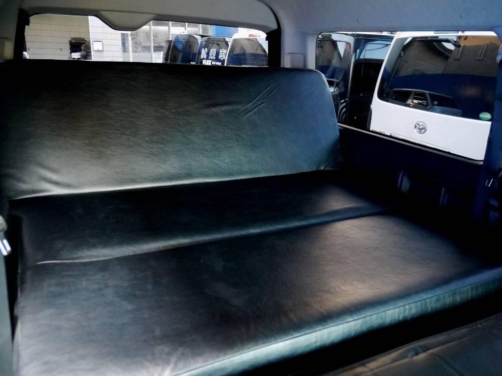 ゆったりお使いいただけます。   トヨタ ハイエースバン 2.7 スーパーGL ワイド ロング ミドルルーフ ブラックカスタム