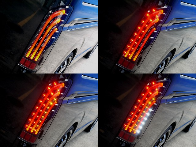 ノーマルとは一味ちがったリアビューを演出してくれますよ☆   トヨタ ハイエースバン 2.7 スーパーGL ワイド ロング ミドルルーフ ブラックカスタム