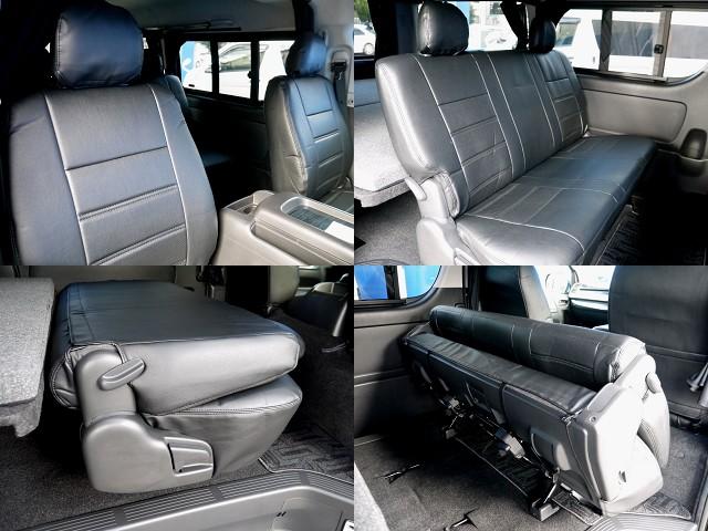 全席シートカバー装着!! | トヨタ レジアスエース 2.7 スーパーGL ワイド ミドルルーフ ロングボディ 4WD アウトドアパッケージ