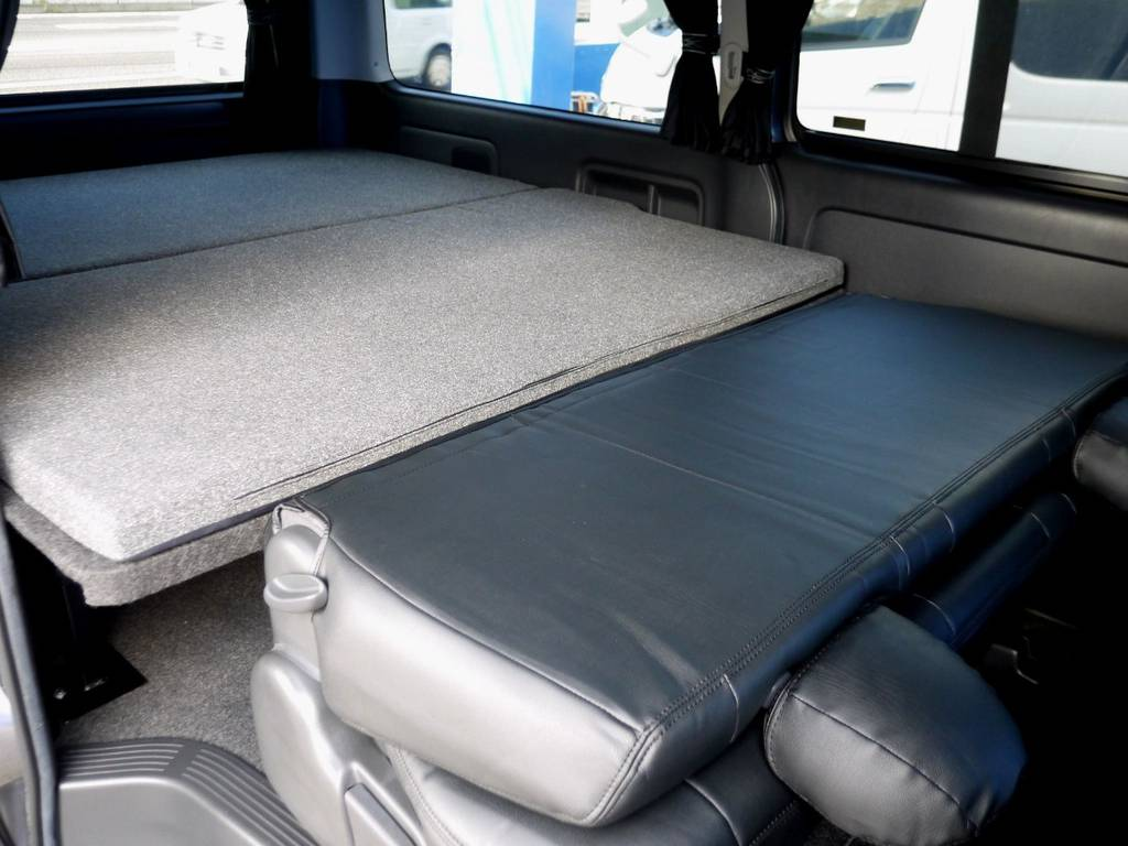 ベットキットとフラットでお使いいただけます!! | トヨタ レジアスエース 2.7 スーパーGL ワイド ミドルルーフ ロングボディ 4WD アウトドアパッケージ