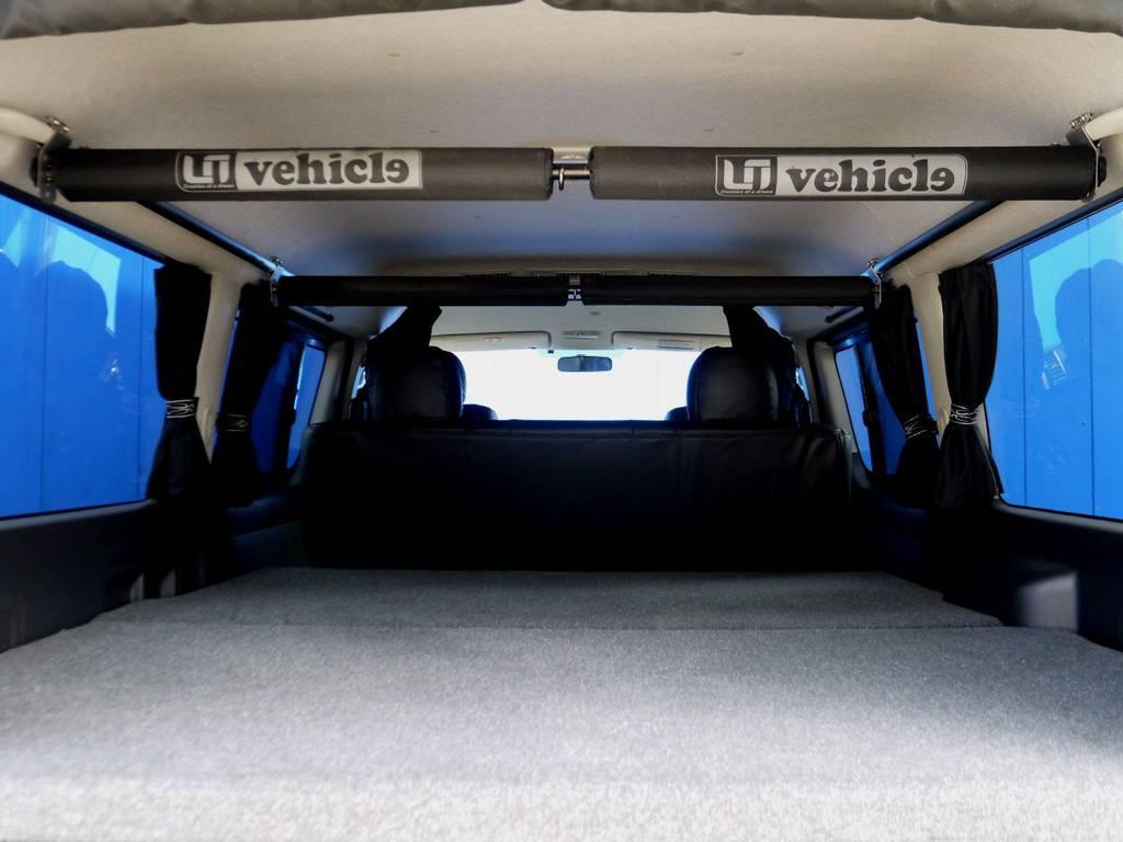 ルームキャリアは移動レールもついてますよ☆ | トヨタ レジアスエース 2.7 スーパーGL ワイド ミドルルーフ ロングボディ 4WD アウトドアパッケージ