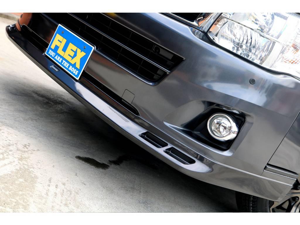 モデリスタ フロントスポイラーを装着!! | トヨタ レジアスエース 2.7 スーパーGL ワイド ミドルルーフ ロングボディ 4WD アウトドアパッケージ