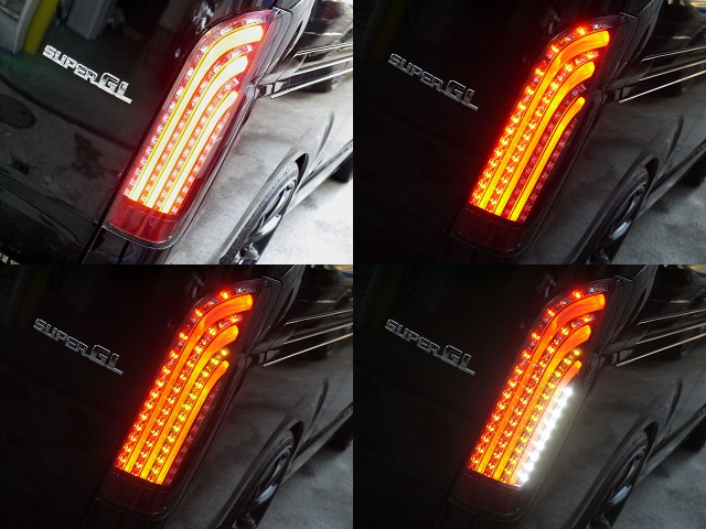 ノーマルとは一味ちがったリアビューを演出してくれますよ☆ | トヨタ ハイエースバン 3.0 スーパーGL ロング ディーゼルターボ ブラックカスタム