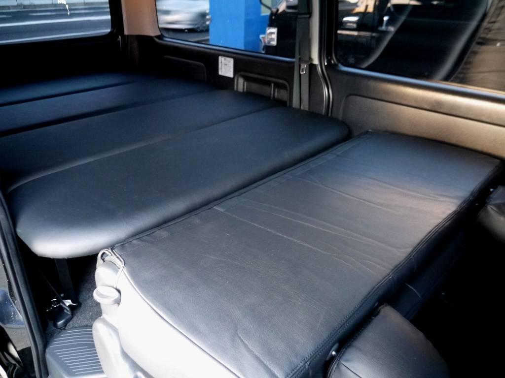 ベットキットとフラットでお使いいただけますよ☆ | トヨタ ハイエースバン 3.0 スーパーGL ロング ディーゼルターボ ブラックカスタム