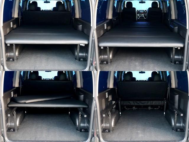 フレックスオリジナルベットキット装着!!高さ調整もできます!! | トヨタ ハイエースバン 3.0 スーパーGL ロング ディーゼルターボ ブラックカスタム
