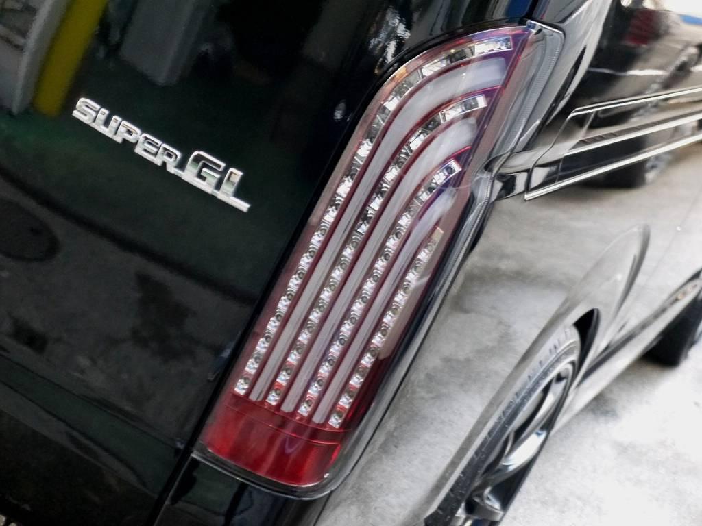 415COBRA LEDテールレンズ!! | トヨタ ハイエースバン 3.0 スーパーGL ロング ディーゼルターボ ブラックカスタム
