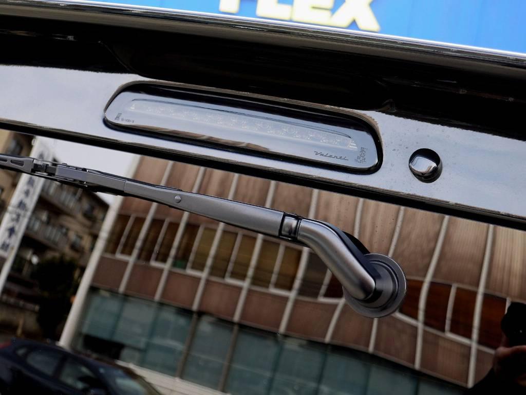 ヴァレンティ ブラックLEDハイマウント装着!! | トヨタ ハイエースバン 2.0 スーパーGL ダークプライム ロングボディ ブラックカスタムパッケージ