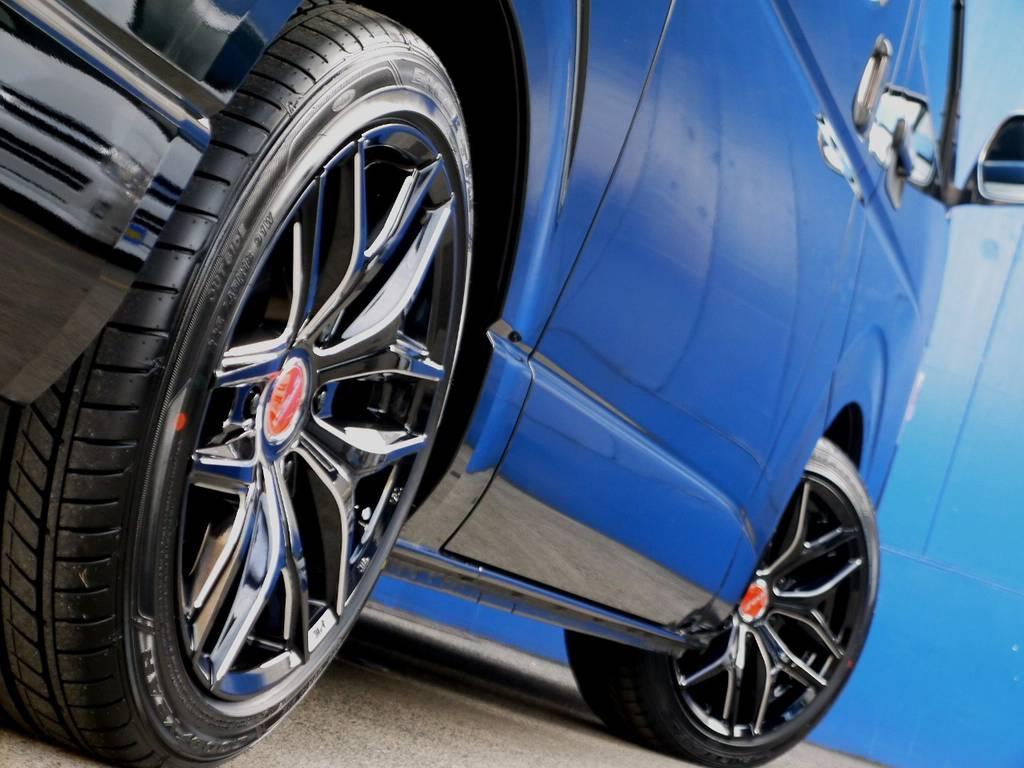 ボディーラインにベストマッチのホイール!! | トヨタ ハイエースバン 2.0 スーパーGL ダークプライム ロングボディ ブラックカスタムパッケージ