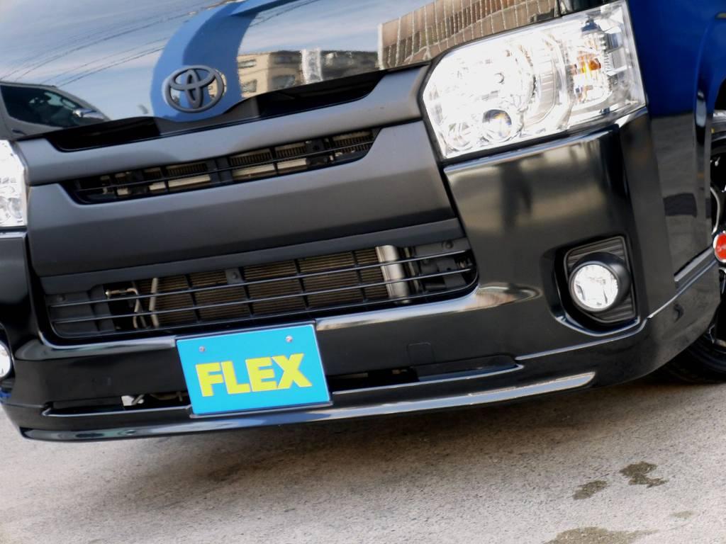 TRDフロントスポイラーをセット!! | トヨタ ハイエースバン 2.0 スーパーGL ダークプライム ロングボディ ブラックカスタムパッケージ