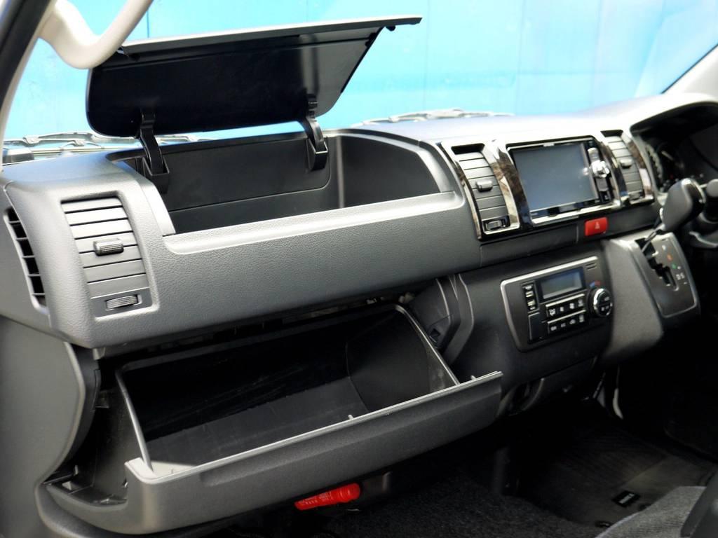 収納スペースが充実!! | トヨタ ハイエースバン 2.0 スーパーGL ダークプライム ロングボディ ナビパッケージ