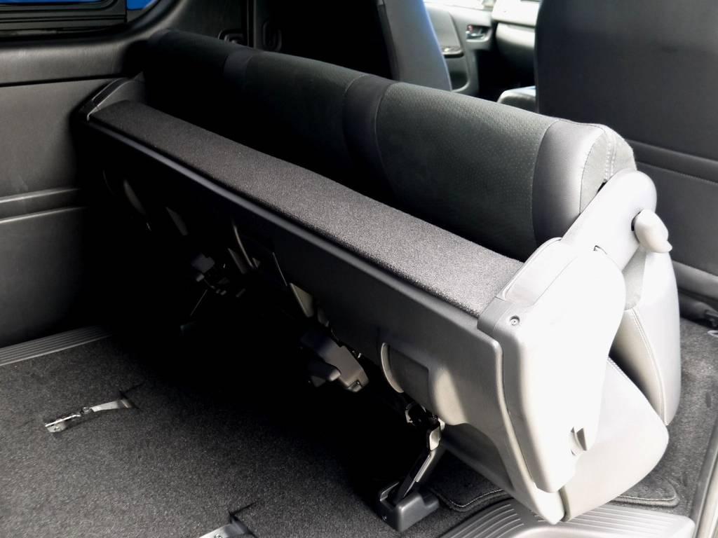 セカンドシートは格納や跳ね上げできますよ☆ | トヨタ ハイエースバン 2.0 スーパーGL ダークプライム ロングボディ ナビパッケージ