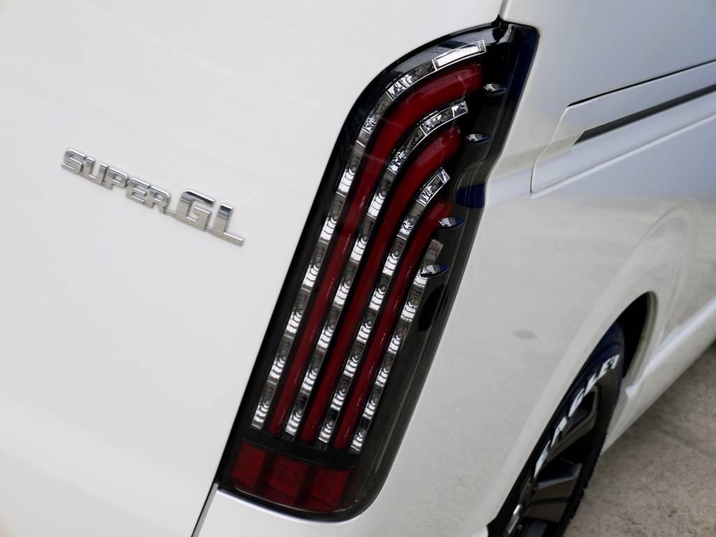 フレックスオリジナル 煌レッドLEDテールをセット!! | トヨタ ハイエースバン 2.0 スーパーGL ダークプライム ロングボディ ナビパッケージ