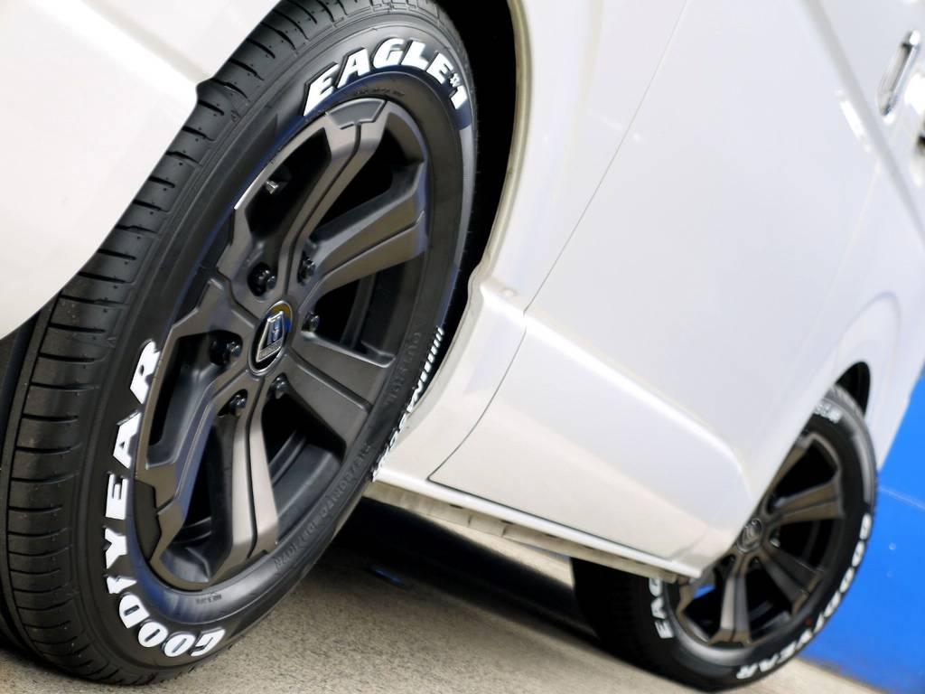 ボディーラインにベストマッチのホイール!! | トヨタ ハイエースバン 2.0 スーパーGL ダークプライム ロングボディ ナビパッケージ