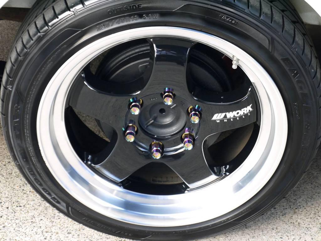 足元にはWORK S1HC18インチアルミにナスカータイヤをセット!!