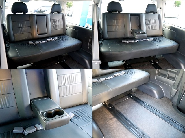 サードシートも3人掛けベンチシート!!スライドやリクライニング可能!!