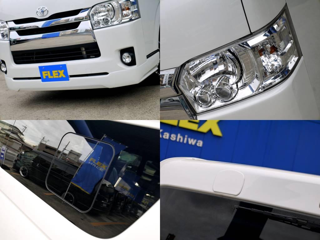 フロントスポイラーをセット!!メーカーオプション LEDヘッドライト完備!!