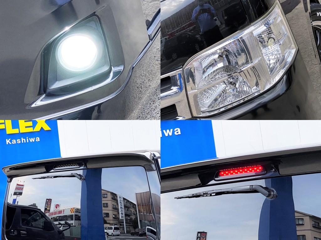 LEDフォグバルブに変更済!!メーカーオプション ディスチャージヘッドライトやルーフスポイラーをセット!!