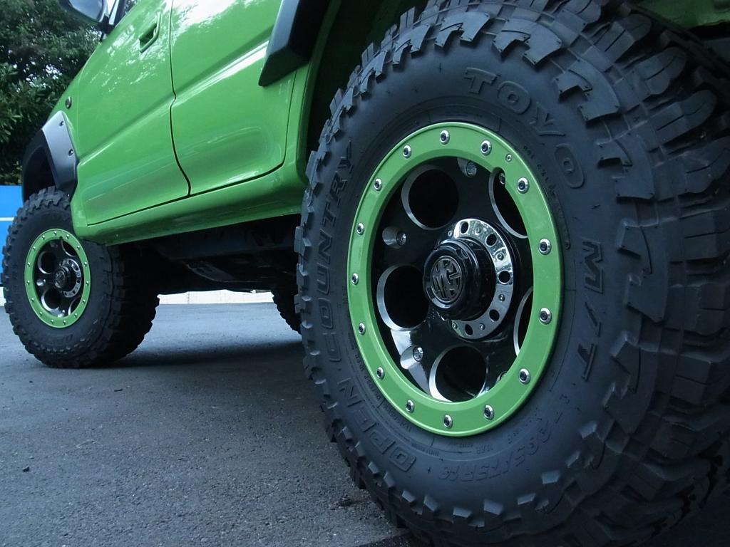 新品タイヤTOYO OPENCOUNTRY | トヨタ ランドクルーザープラド 2.7 TX リミテッド 4WD COLORBOMB グリーン