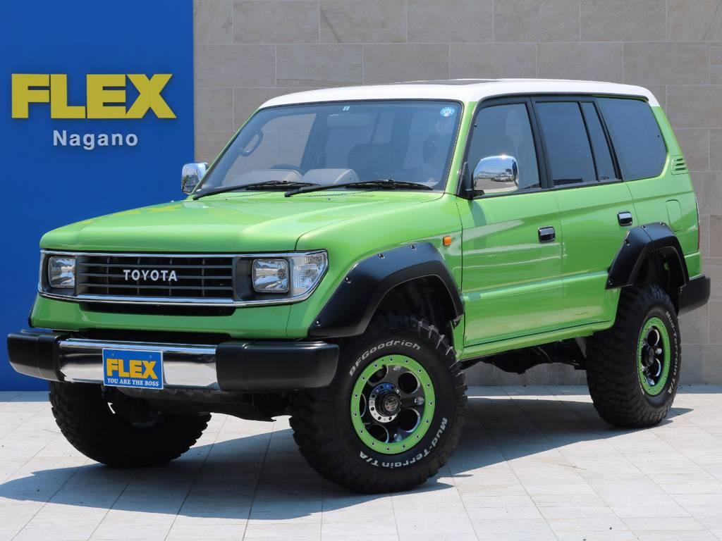 FLEXstyle2016'カラーBOM ライムグリーンVer! | トヨタ ランドクルーザープラド 3.0 TX ディーゼルターボ 4WD
